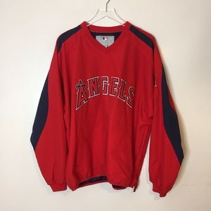 Anaheim Angels Red Pullover Windbreaker Large